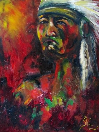 """Kitchi"" Native American Indian Warrior"