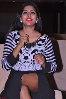 Akshatha in a lovely Leg Split Black Gown Cross legged Latest Stills 03.JPG