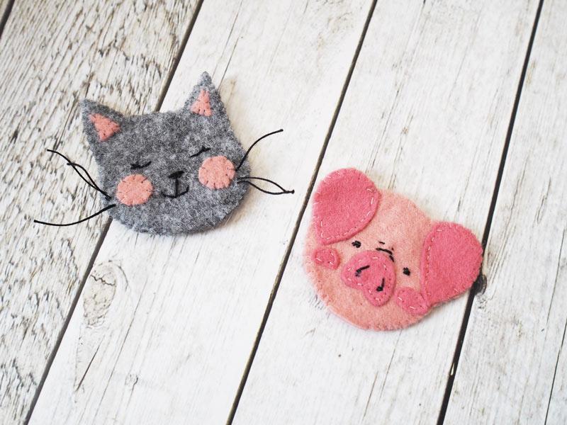 KuneCoco • DIY • Pencil Topper • Katze und Schwein