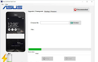 Cara flash Hp asus zenfone dengan flash tool