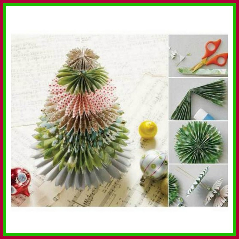 Christmas Tree Made By Paper: Dollar Store Crafter: Turn Christmas Paper Into Origami