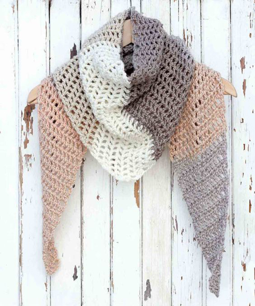 Desert Winds Triangle Scarf - Free Pattern