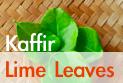 lime leaves and kaffir lime leaves