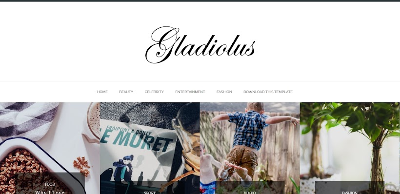 Gladiolus Minimal Free Blogger Template