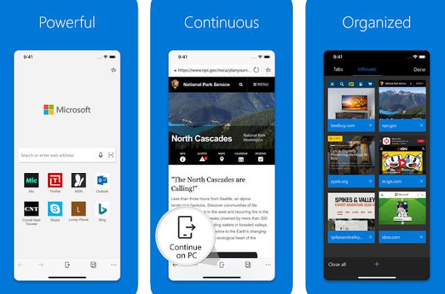 تحديث Microsoft Edge لنظام التشغيل iOS لدعم اختصارات Siri والمزيد