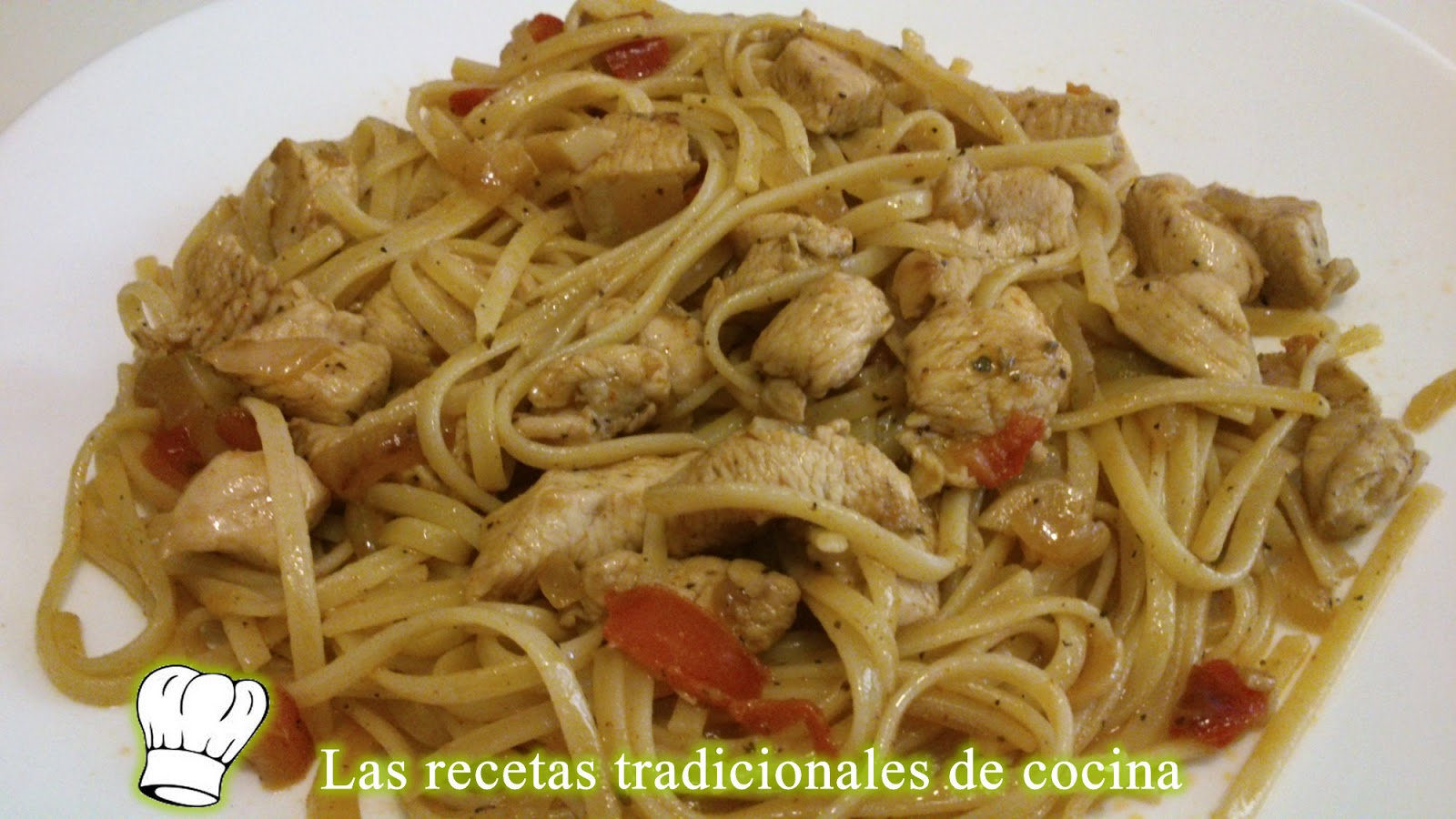 Receta de tallarines o espaguetis con pollo recetas de - Como hacer espaguetis al pesto ...