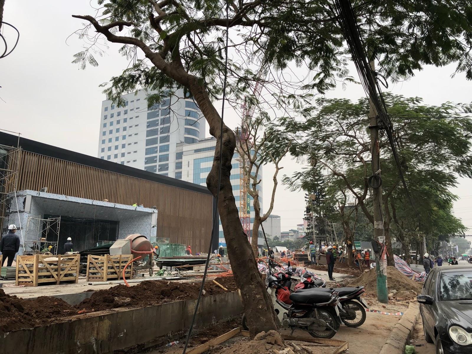 Tiến độ xây dựng phòng bán hàng của Hinode City Minh Khai