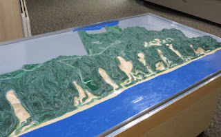 Hoffmaster State Park relief model of the dune blowouts