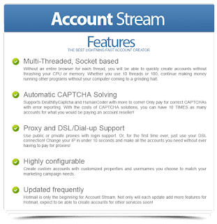 Hotmail Account Stream 1.2.20 Full Version