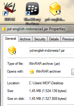 tutorial install aplikasi JAVA di Blackberry (BB)