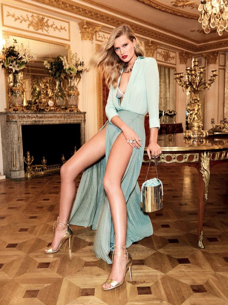 Elisabetta Franchi Spring/Summer 2017 Campaign featuring Toni Garrn