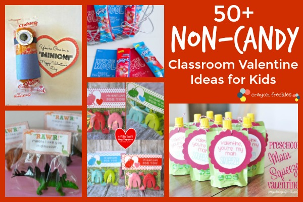 Toddler Classroom Valentine Ideas : Crayon freckles non candy diy classroom valentine