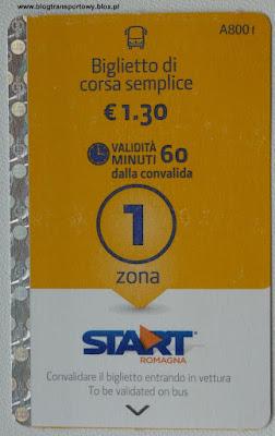 Rimini, bilet, Start Romagna