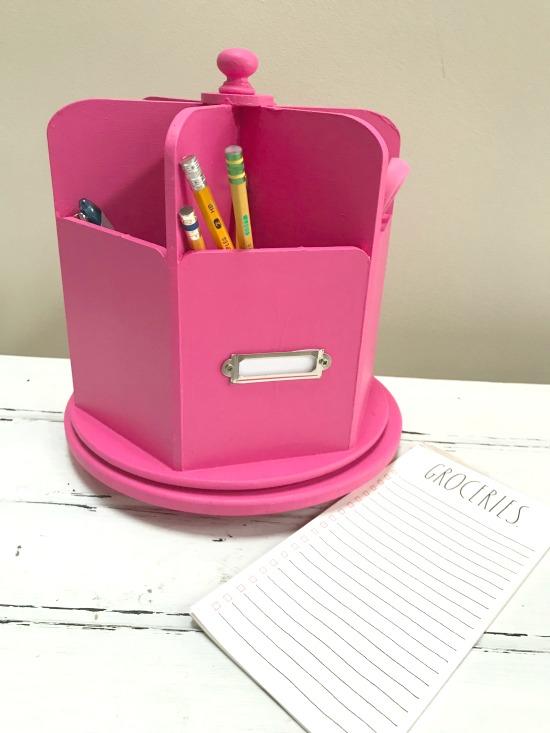CUREiously Pink Desk Organizer DIY