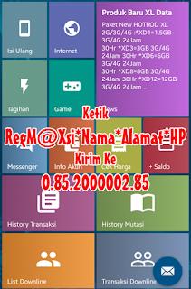 Registrasi Armaila M@xsi reload Pulsa