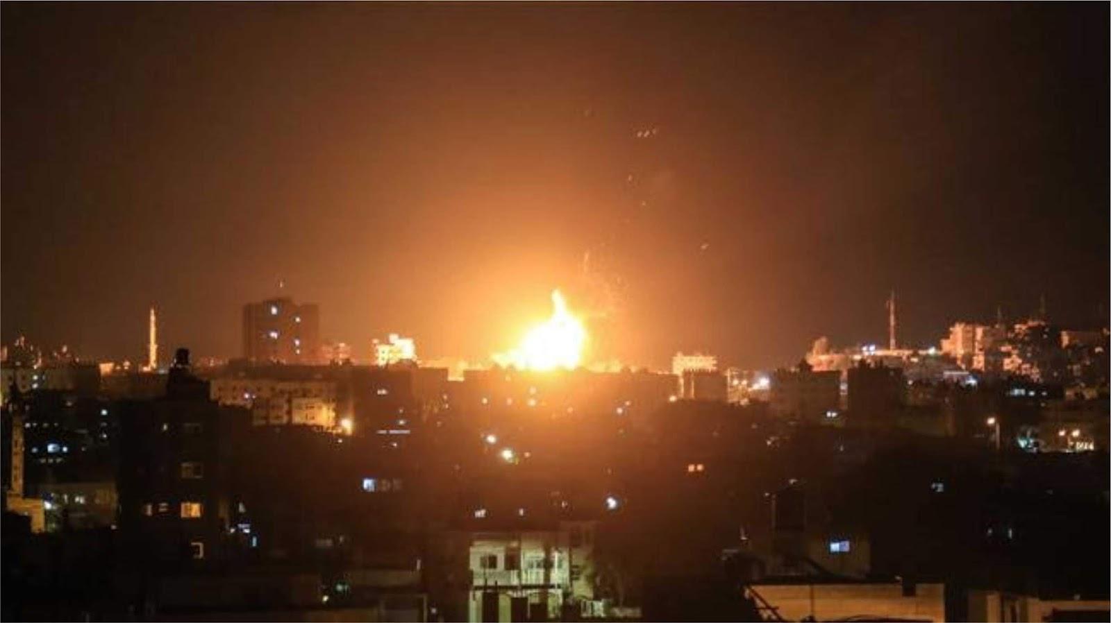 Angkatan udara Israel melancarkan serangan rudal ke Gaza