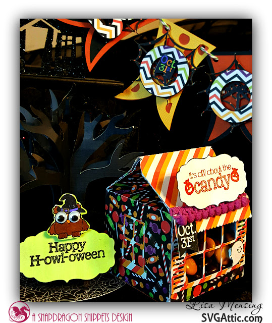Created In the Crafting Cave with Lisa Halloween Cupcake Holder by SVG Attic