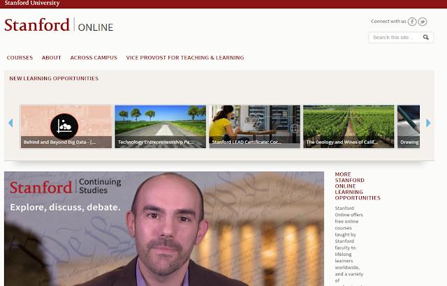 أفضل 5 مواقع كورسات اون لاين مجانا للدورات المجانية على الانترنت مع شهادات - موقع Stanford
