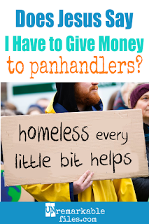 I love the perspective in this article. Christians feel particularly aware of Jesus' commandments to help the poor and needy – so does that mean we are required to give money to beggars on the street? If you don't feel comfortable with giving money to panhandlers (or even if you do,) you should probably read this. #homeless #christian #jesus #help #panhandler