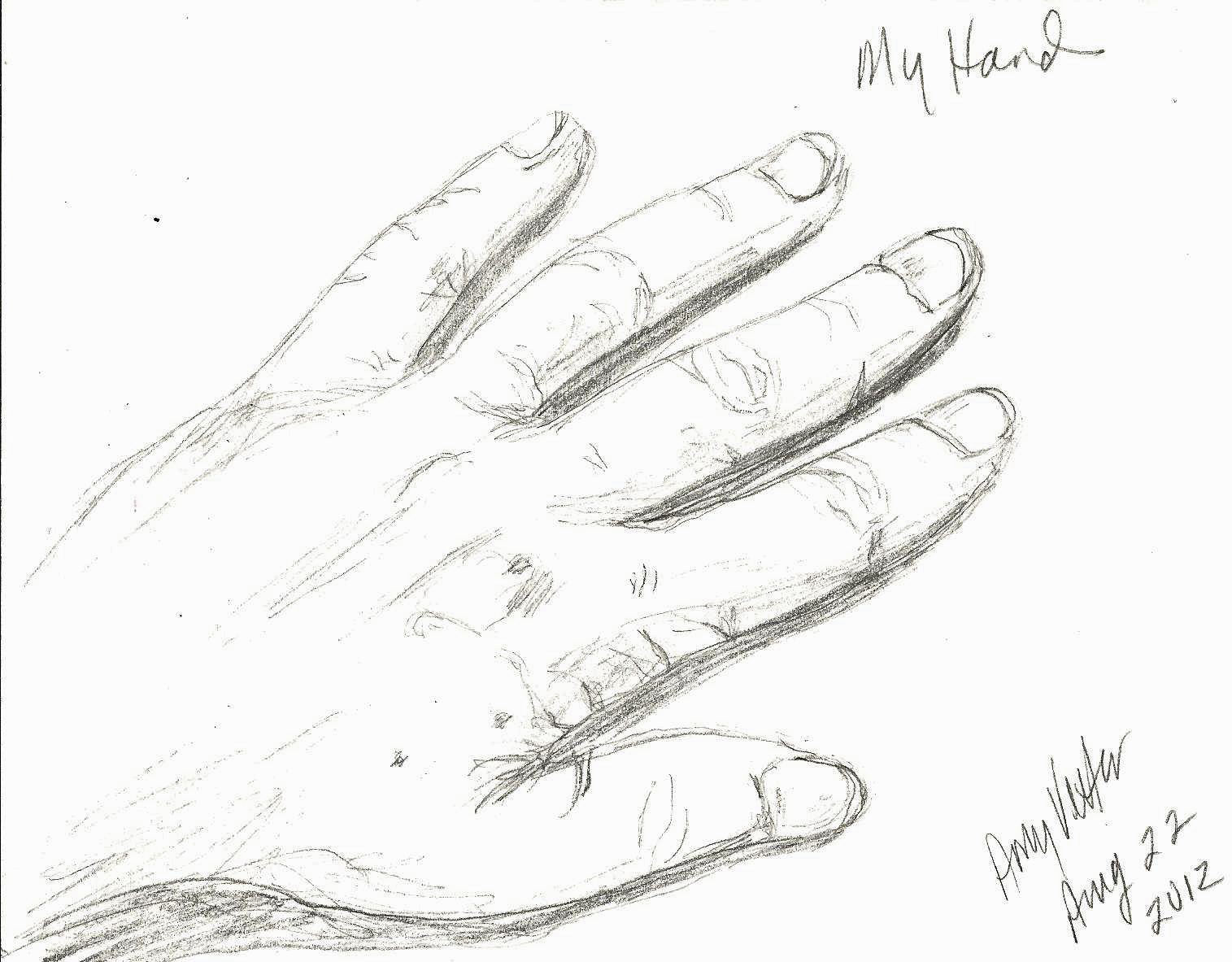 Hands drawn in pencil dating