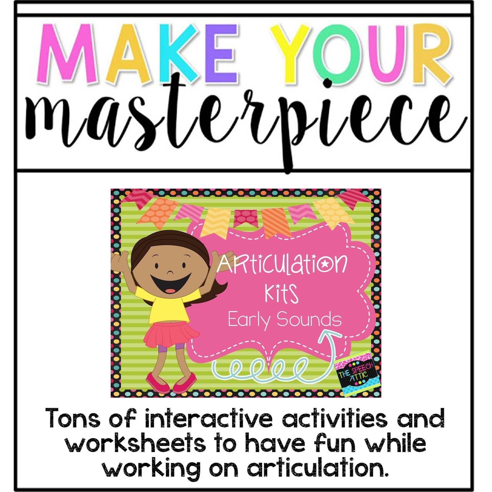 The Speech Attic Tpt Seller Challenge Make Your Masterpiece