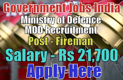 Ministry of Defence MOD Recruitment 2018