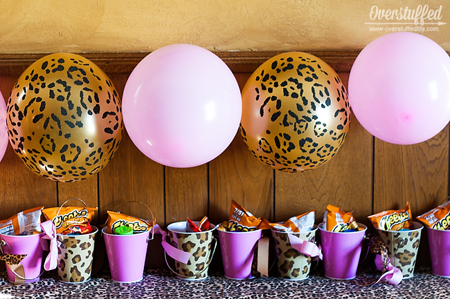 super simple cheetah birthday party ideas - overstuffed