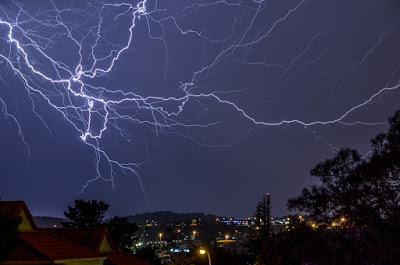 Блискавки над столицею Південно Африканської Республіки