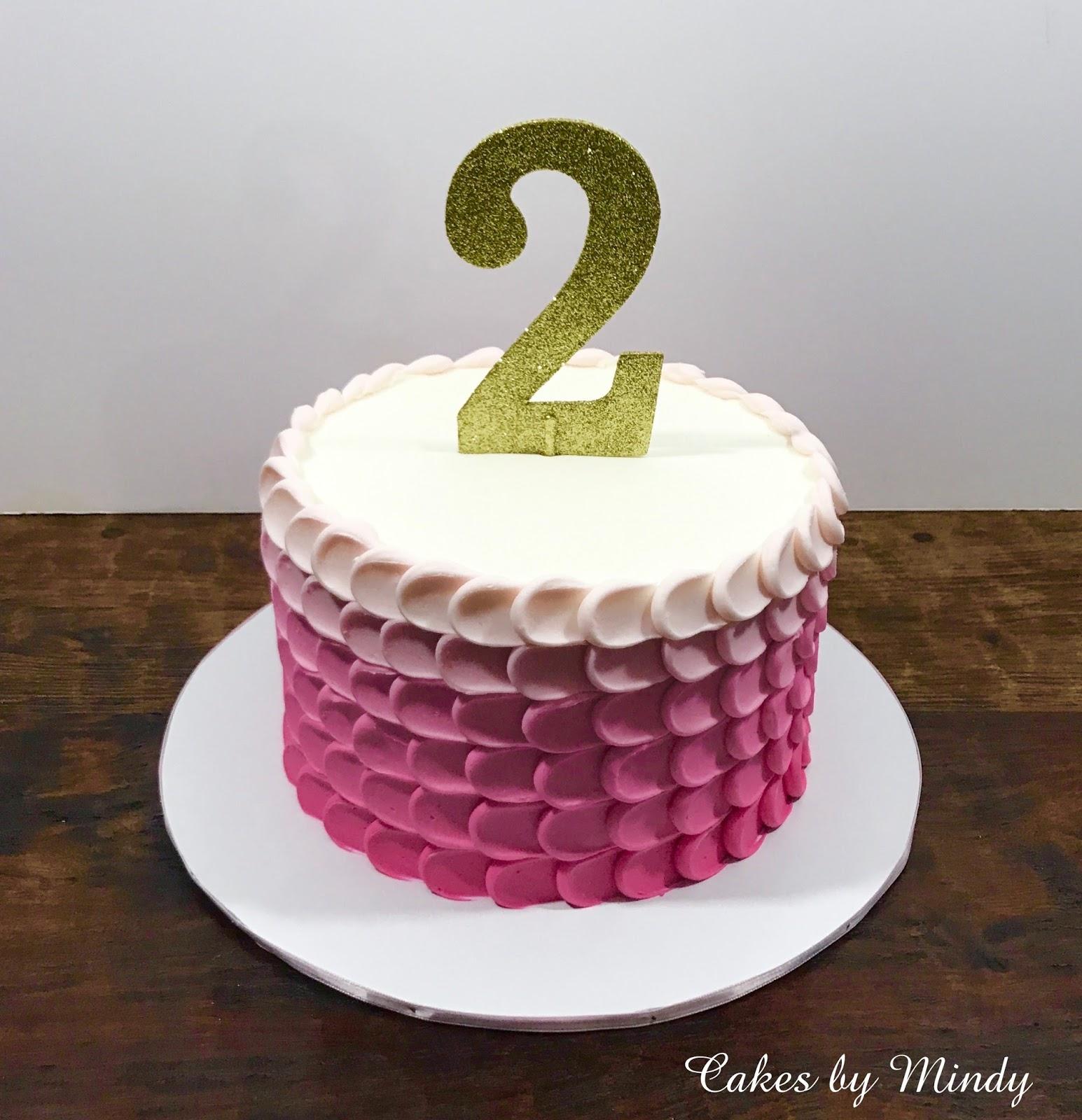 Wondrous Cakes By Mindy Pink Ombre Birthday Cake 6 Funny Birthday Cards Online Inifodamsfinfo