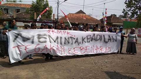 warga desa kawungsari kuningan demo pilkades