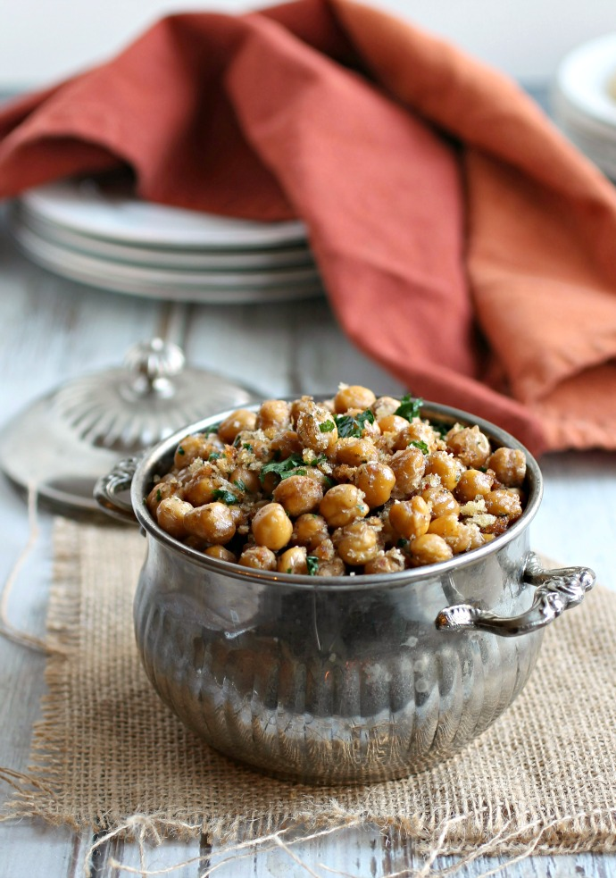 Crunchy Roasted Cumin Chickpeas