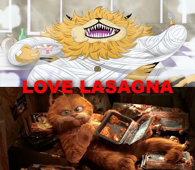 Nekomamushi dan Garfield love Lasagna