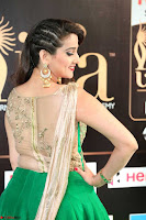 Manjusha in Beautiful Sleeveless Green Anarkali dress at IIFA Utsavam Awards 72.JPG