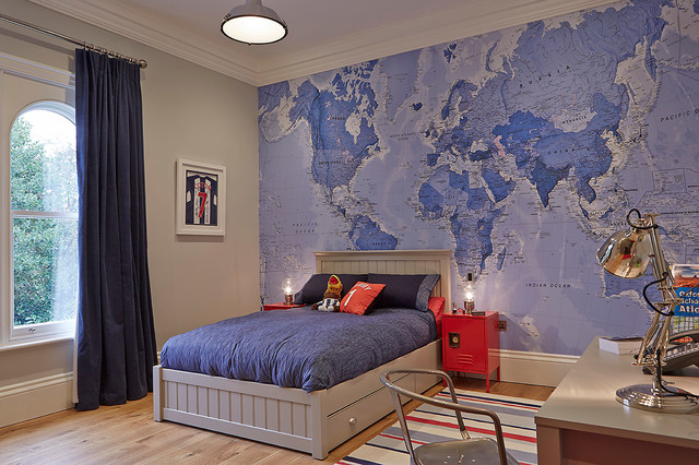 världskarta tapet blå fototapet marine barntapet barnrum
