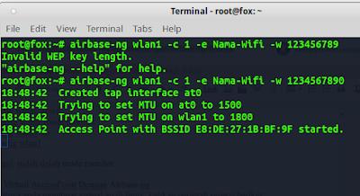 Tutorial Membuat Virtual AccessPoint Dengan Airbase-ng di Kali Linux dan BackBox