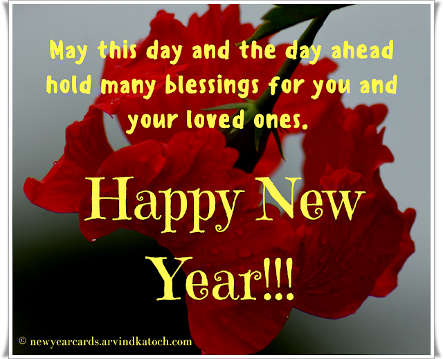 day, ahead, blessings, New Year, Card, Happy New Year,