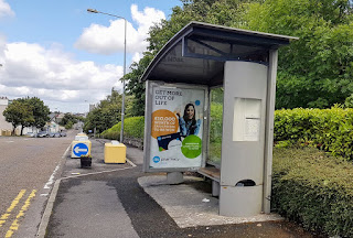 Orphaned bus shelter in Knock, Co Mayo