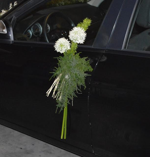 flores para el coche de la novia