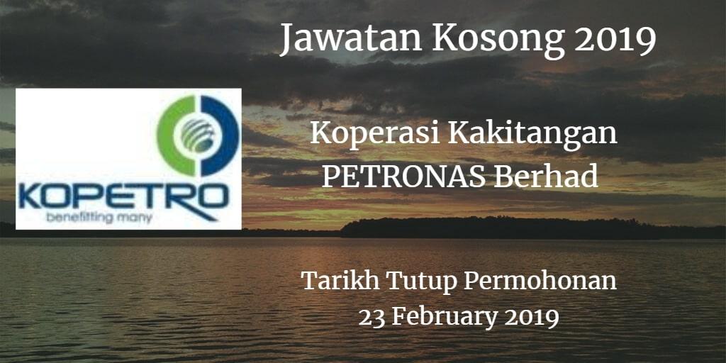 Jawatan Kosong KOPETRO 23 February 2019