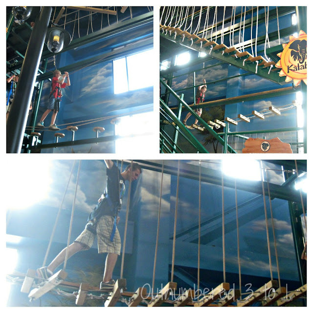indoor theme park ropes course