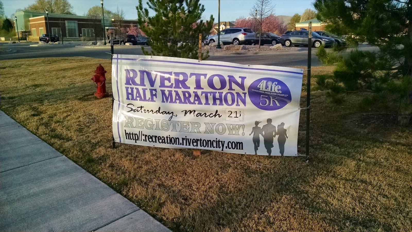 Running on Eddie: 2015 Riverton Utah Half Marathon Race Recap