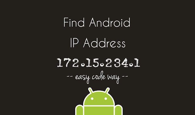 Find IP Address of Android Phone