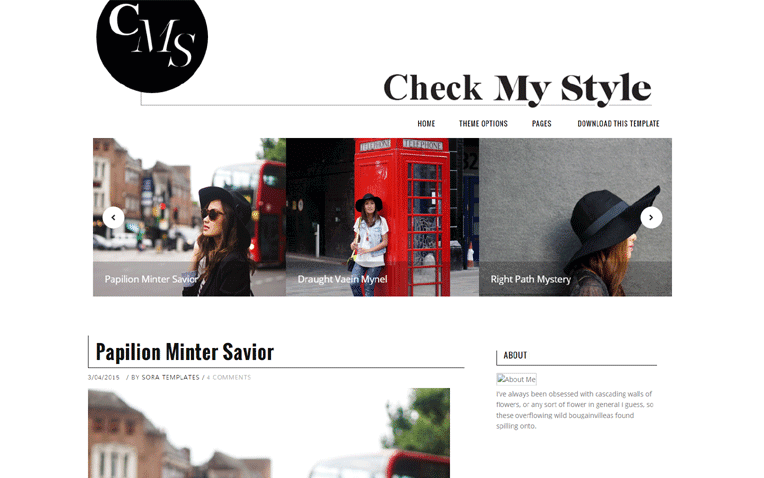 Check My Style Free Blogger Template Free Blogger Template
