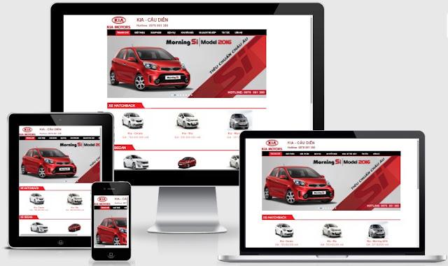 Template blogspot showroom mua bán ô tô