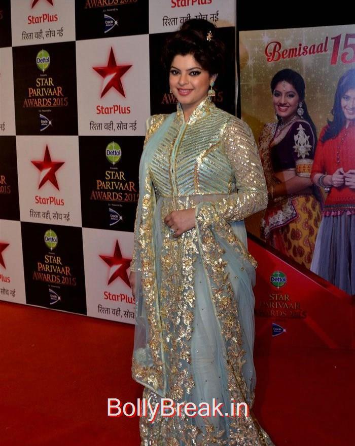 Sneha Wagh, Asha Negi Simone Singh Hot HD Images At Star Parivaar Awards 2015 Photo Gallery
