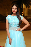 Pujita Ponnada in transparent sky blue dress at Darshakudu pre release ~  Exclusive Celebrities Galleries 011.JPG
