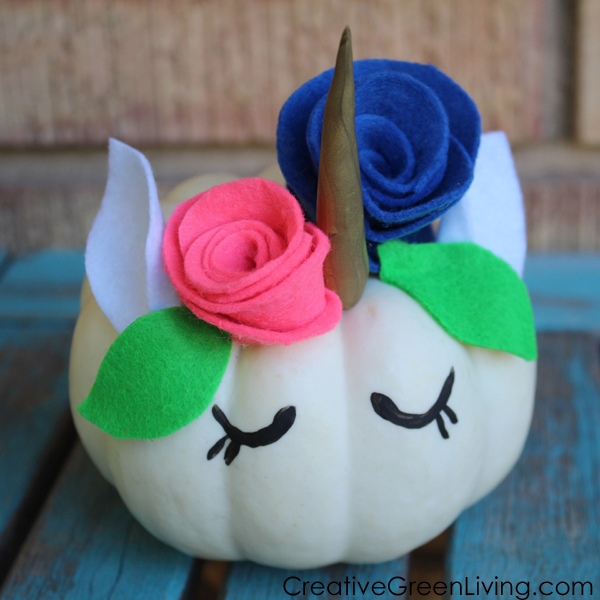How to make a pretty unicorn pumpkin craft project