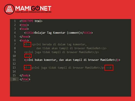 Cara Membuat Tag Komentar di HTML