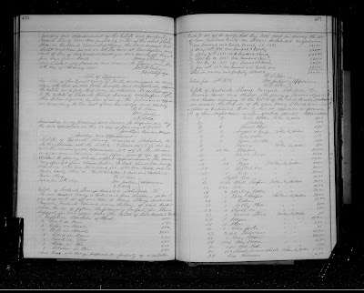 Climbing My Family Tree: Pages 476 & 477 - Estate Inventory of Frederick Stump, Deceased; Mary Stump Admix.