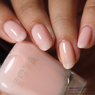 Nail polish swatch of Bela from the Zoya Bridal Bliss collection